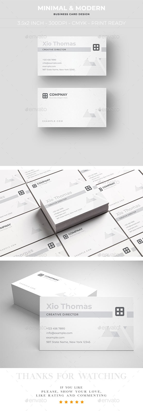 Minimal and Modern Business Card Design - Business Cards Print Templates