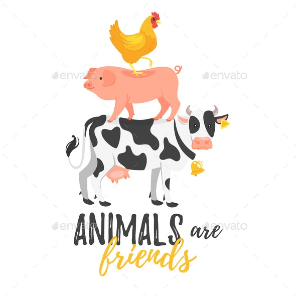 Animals are Friends - Animals Characters