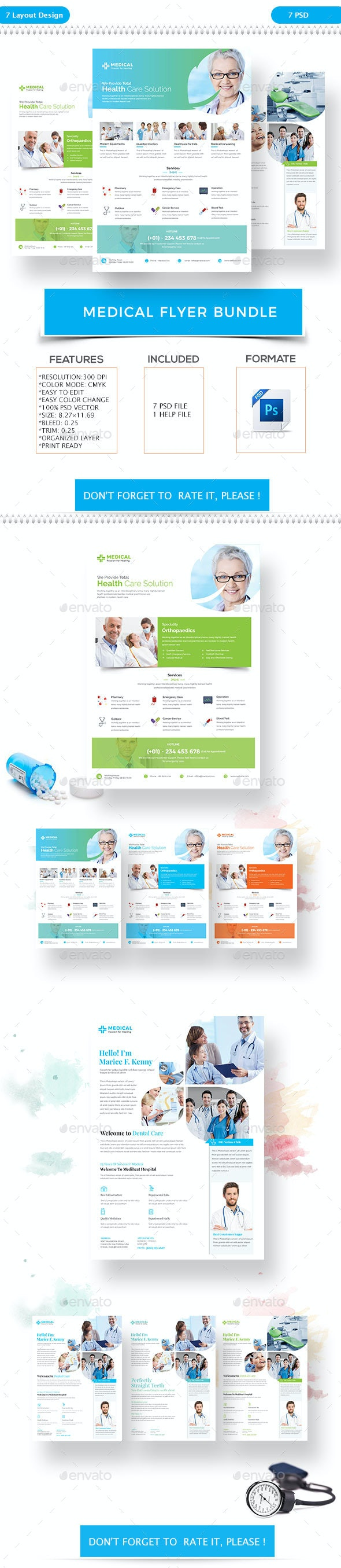 Medical Flyer Bundle - Flyers Print Templates