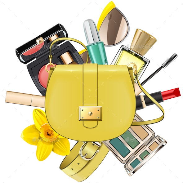 Vector Yellow Fashion Accessories Concept - Retail Commercial / Shopping