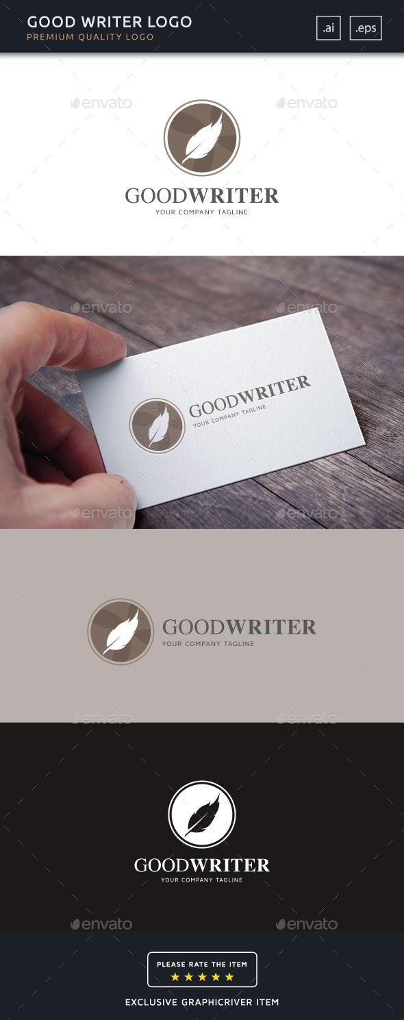 Good Writer Logo Template - Objects Logo Templates