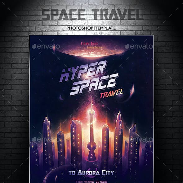 Space Travel A3 Poster