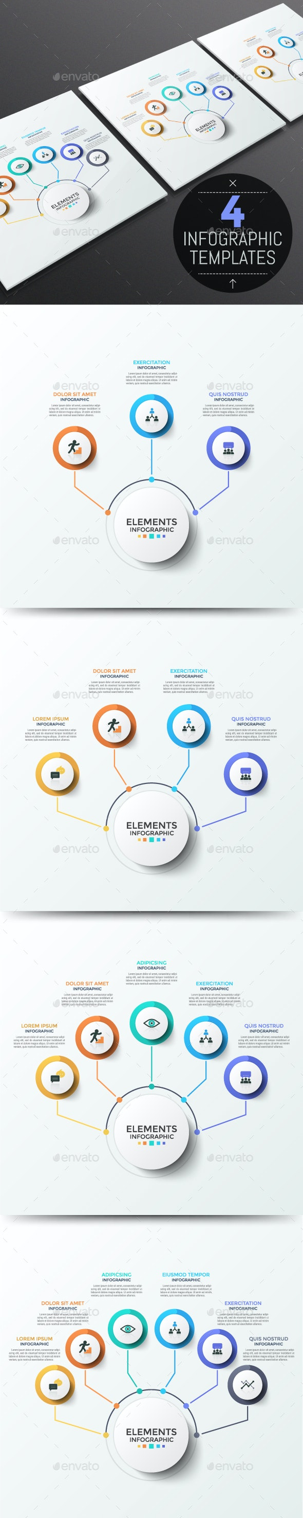 Modern Infographic Choice Templates (4 Items) - Infographics