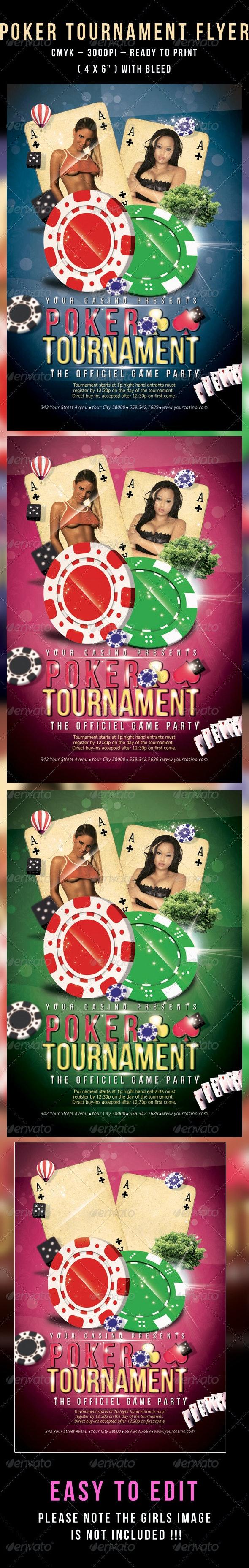 Poker Tournament Flyer - Flyers Print Templates