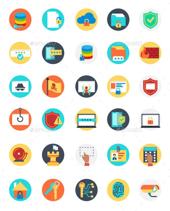 Set of Internet Security Icons
