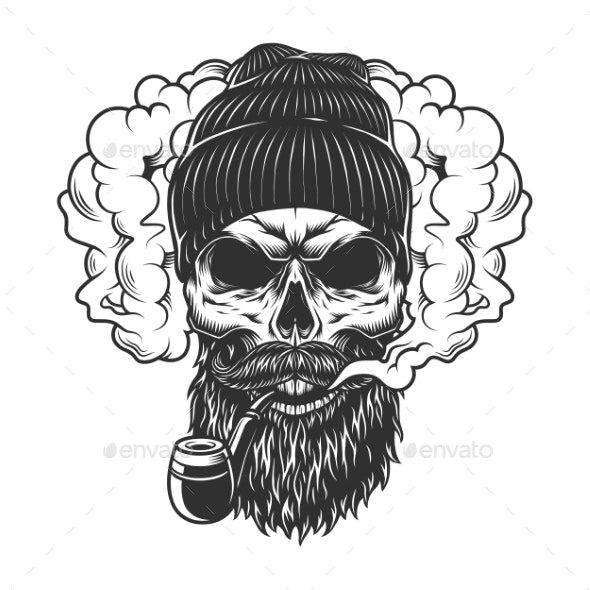 Skull in Smoke Cloud - Miscellaneous Characters