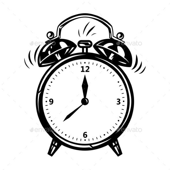 Alarm Clock in Comic Style - Miscellaneous Vectors