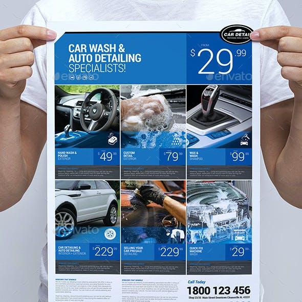 Car Detailing Poster / Banner