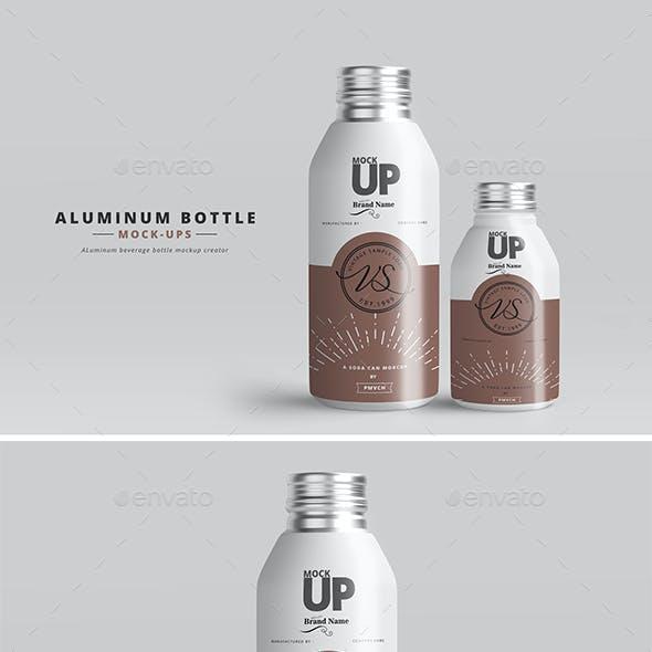 Aluminum Bottle Mockups