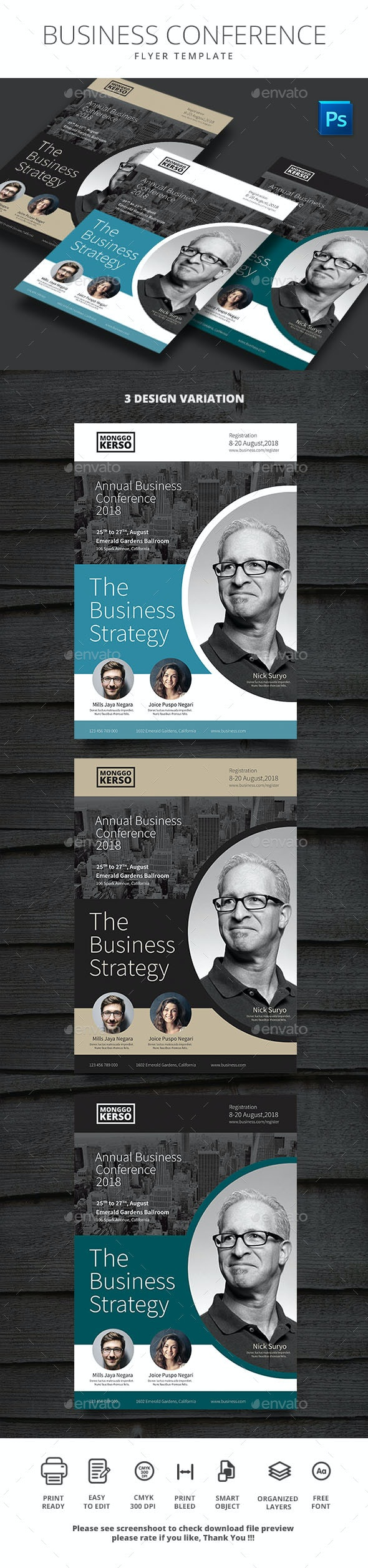 Business Conference - Corporate Business Cards