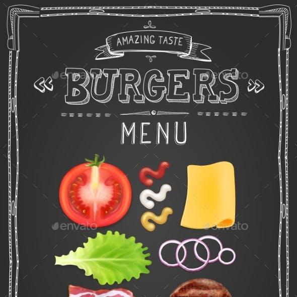Cafe Burgers Menu