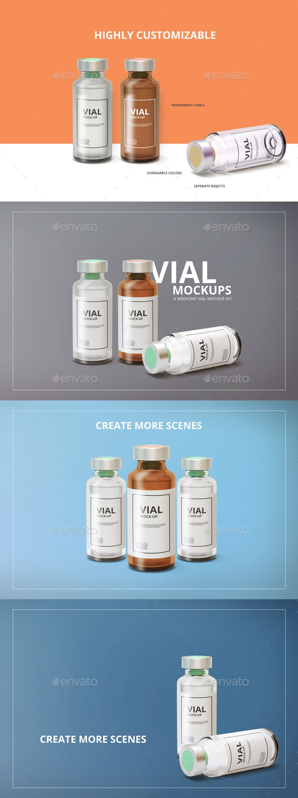 Medicine Vial Mockup - Miscellaneous Packaging