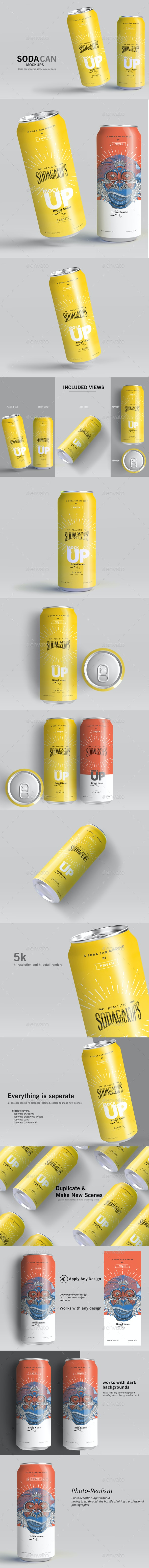 Can Mockups - Food and Drink Packaging