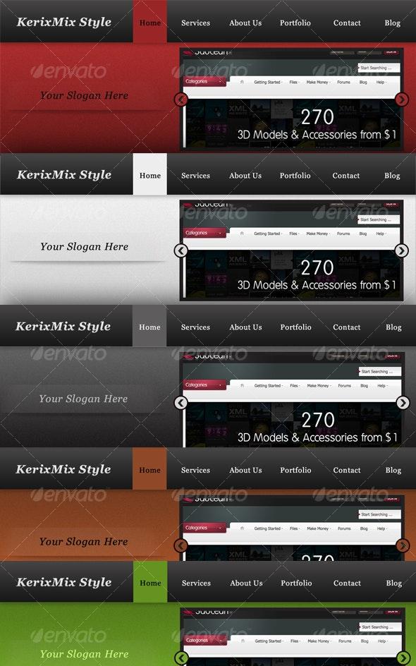 Website header theme (5 color) - Miscellaneous Web Elements