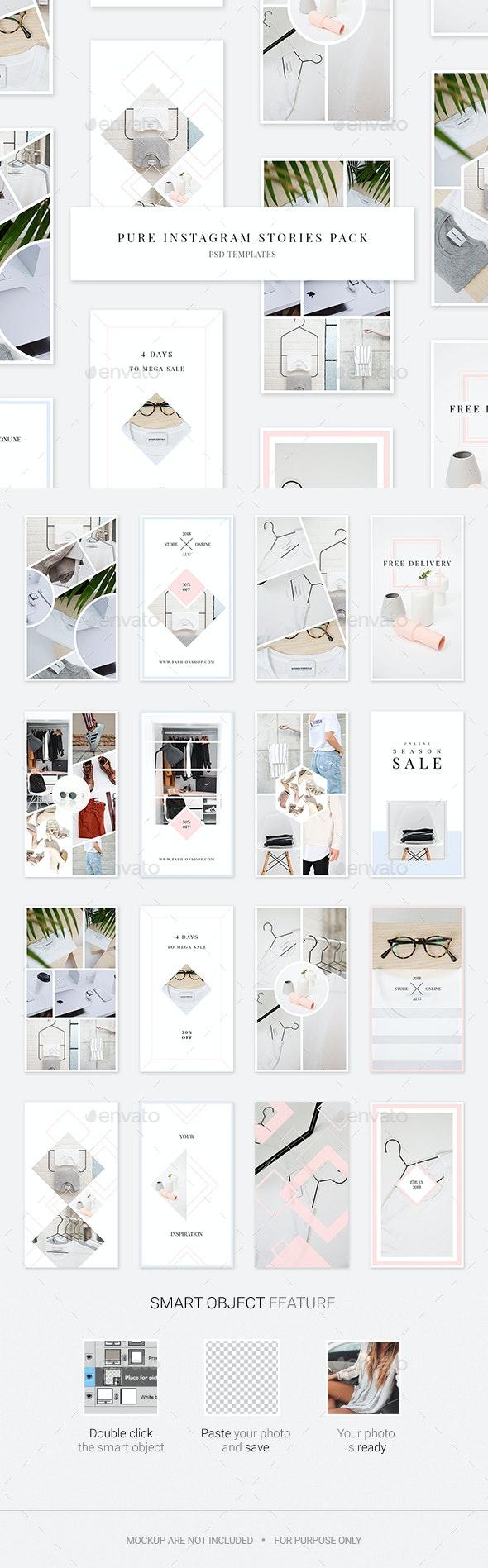 Pure Instagram Stories Pack - Social Media Web Elements