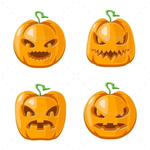 Cartoon Jack O Lantern Halloween Pumpkin - Halloween Seasons/Holidays