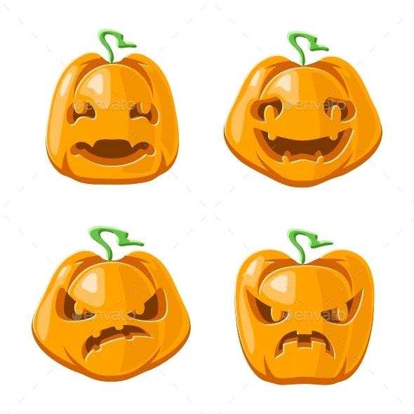 Halloween Jack O Lantern Pumpkins - Halloween Seasons/Holidays