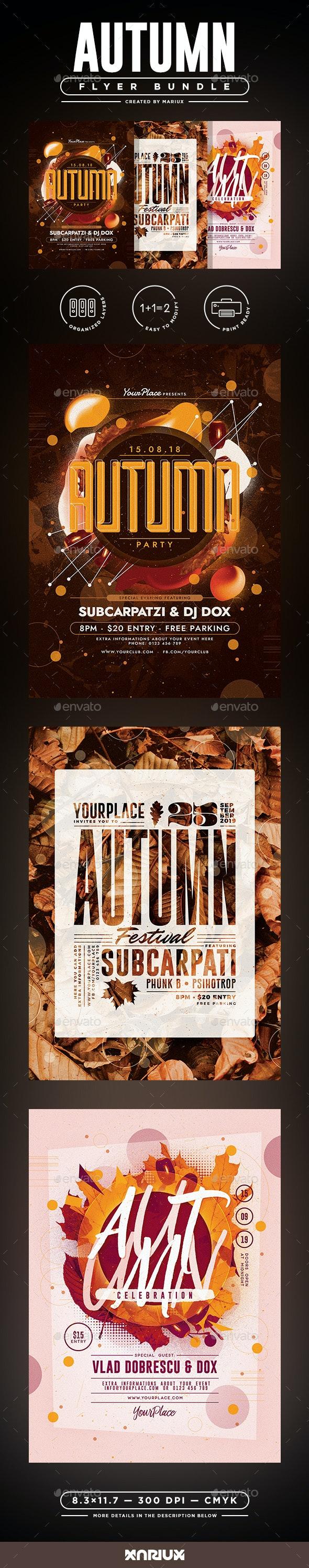 Autumn Flyer Bundle - Clubs & Parties Events