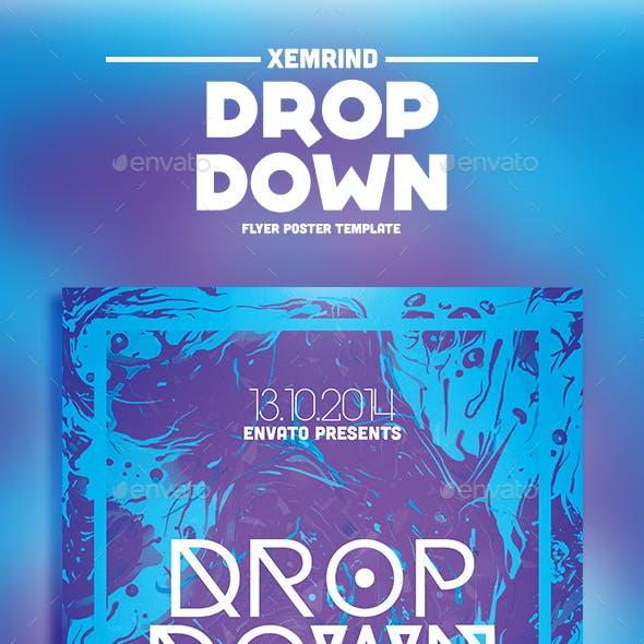 Drop Down Flyer Template