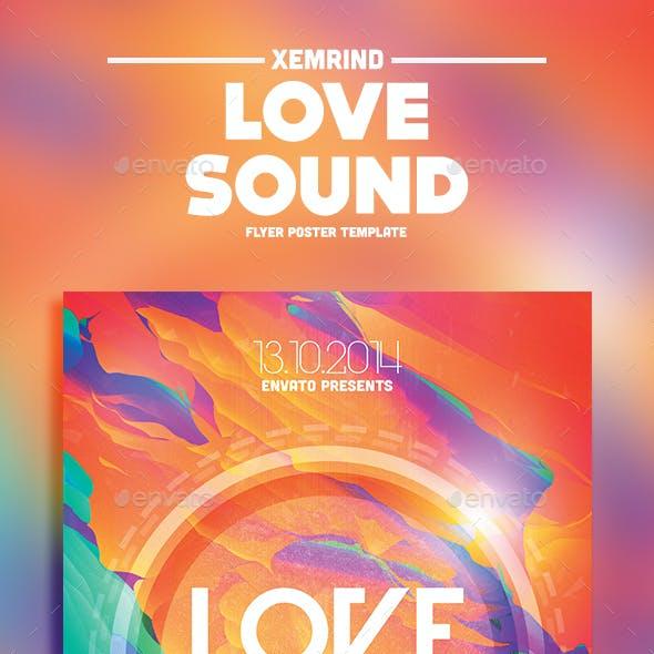 Love Sound Flyer Template
