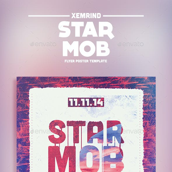 Star Mob Flyer Template