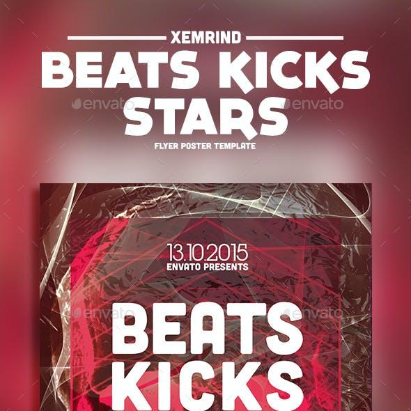 Beats Kicks Stars Flyer Template