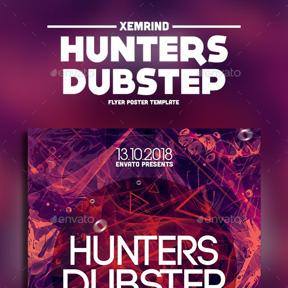 Hunters Dubstep Flyer Template