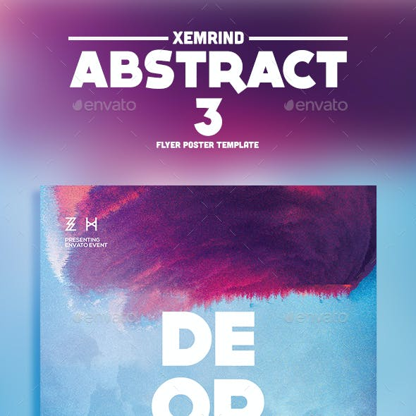 Abstract 3 Flyer Template
