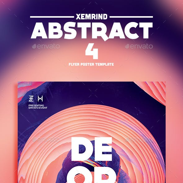 Abstract 4 Flyer Template
