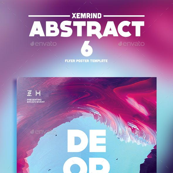 Abstract 6 Flyer Template