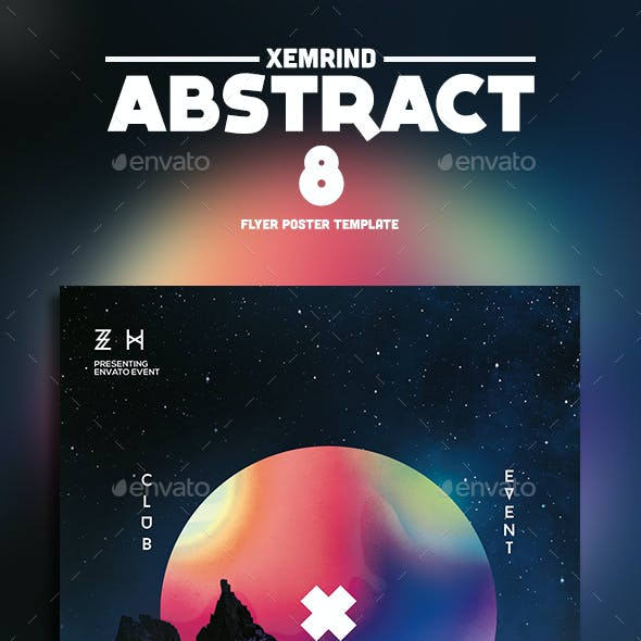 Abstract 8 Flyer Template
