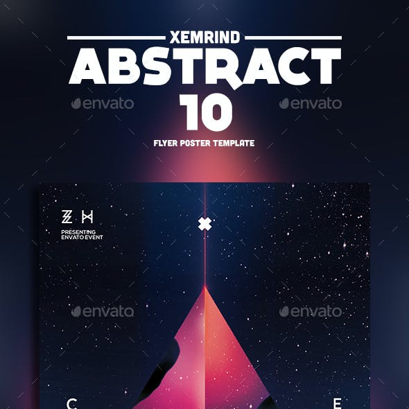 Abstract 10 Flyer Template