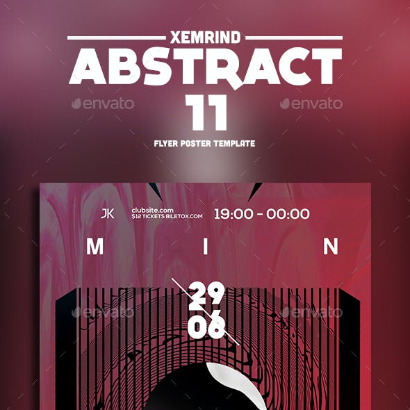 Abstract 11 Flyer Template