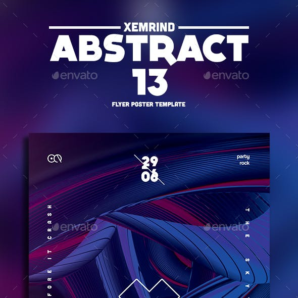 Abstract 13 Flyer Template
