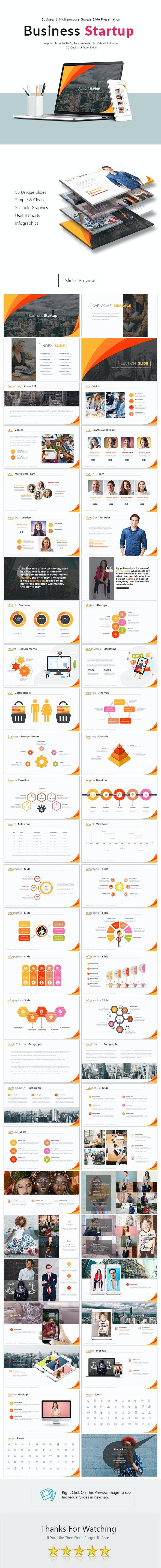 Business Startup Google Slide Presentation - Google Slides Presentation Templates
