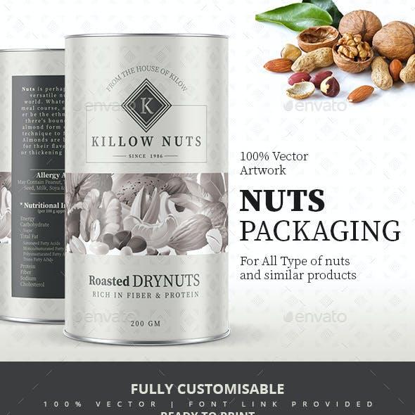 Modern Nuts Packaging