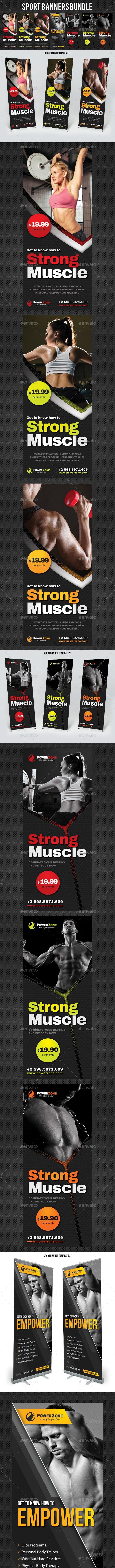 Sport Banners Bundle - Signage Print Templates