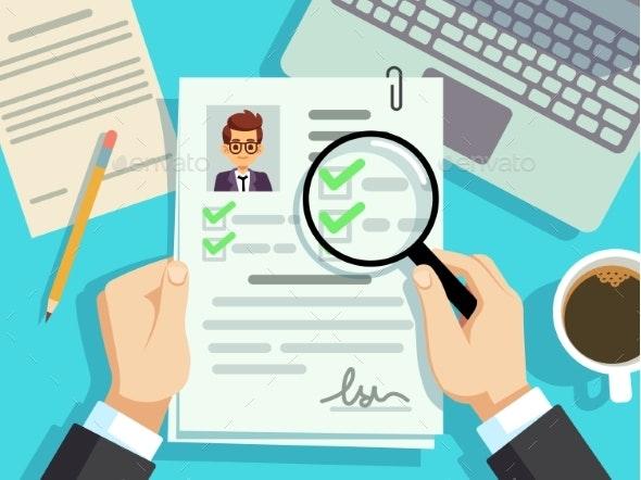 Job Interview Concept - Miscellaneous Vectors