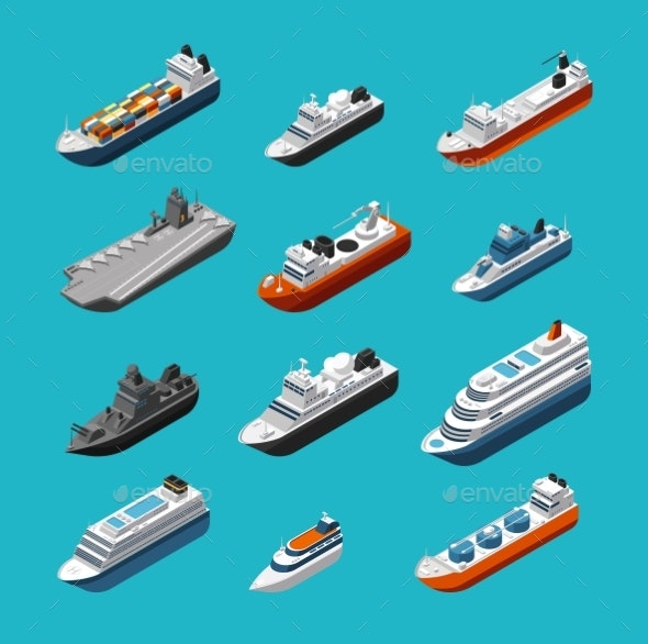 Passenger and Cargo Ships - Man-made Objects Objects