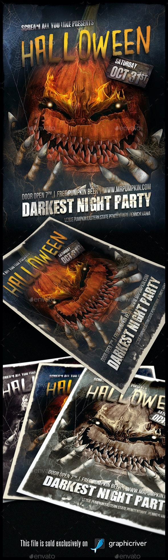 Halloween Flyer/Poster Vol.02 - Flyers Print Templates