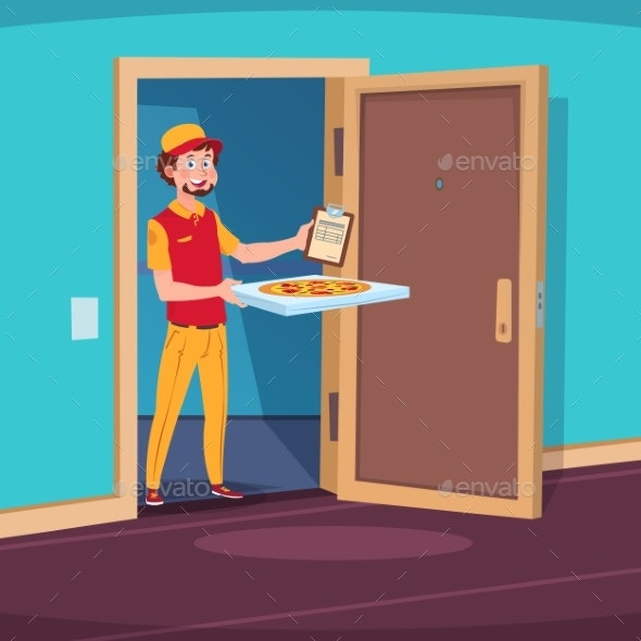 Food Delivery Concept - People Characters