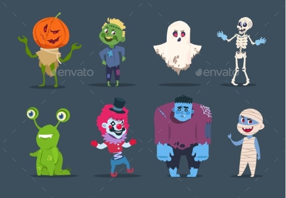 Halloween Characters - Monsters Characters