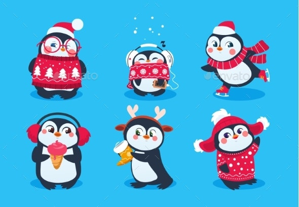 Christmas Penguin - Animals Characters