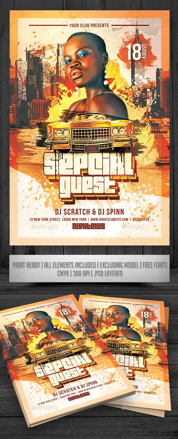 Special Guest Event Flyer - Events Flyers