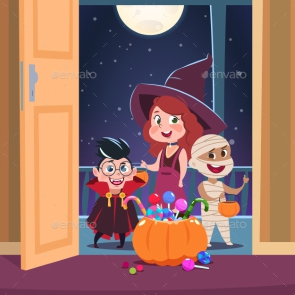 Halloween Trick or Treat Background - Halloween Seasons/Holidays