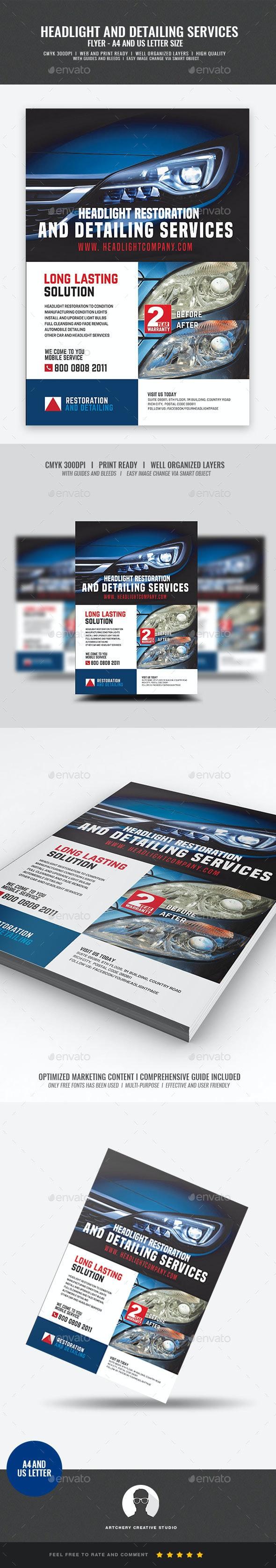 Headlight Restoration Corporate Flyer - Corporate Flyers