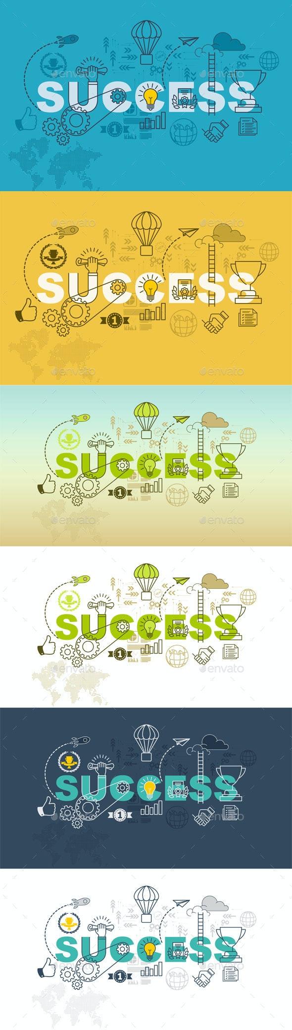 Success Banner Background Design Concept - Backgrounds Business