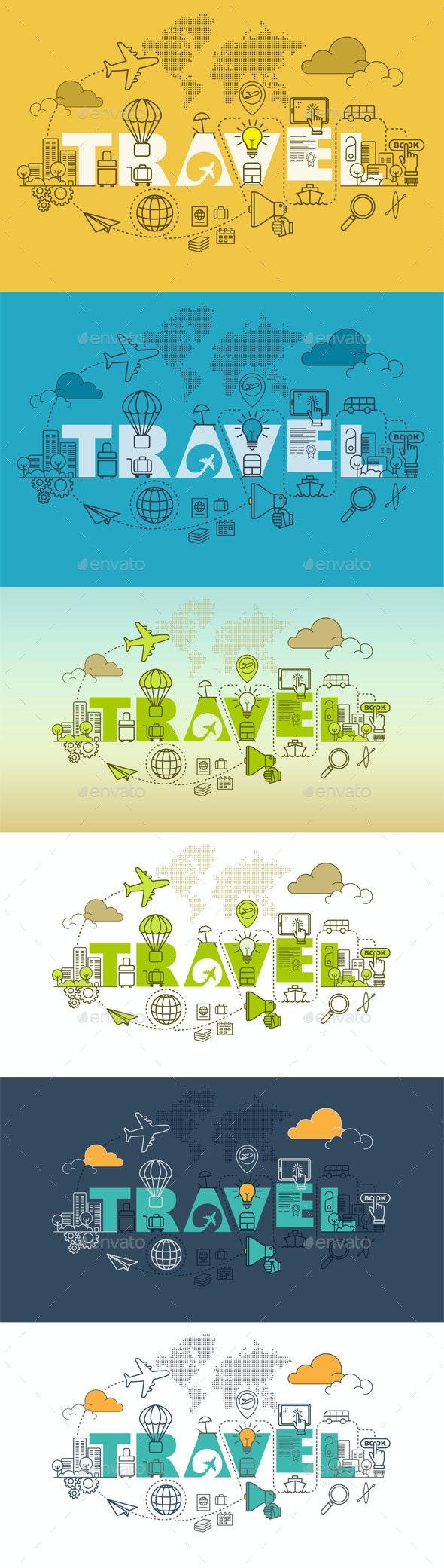 Travel Website Banner Design Concept - Travel Conceptual