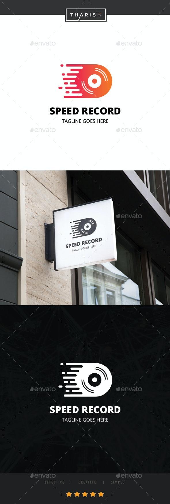 Speed Record Logo - Objects Logo Templates