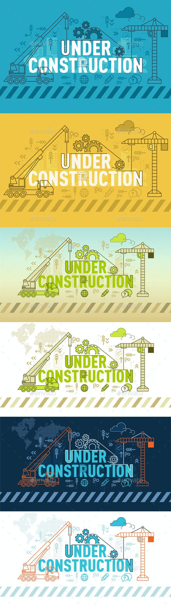 Under Construction Website Banner Design Concept